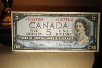 1954 Replacement $5 Dollar Bank of Canada Banknote *WS0287106