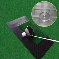 New Mini Golf Indoor Skid Resistance Swing Mat Removable Artificial Turf Mat#