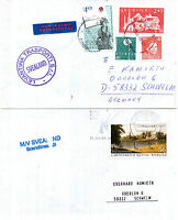 SWEDEN FERRY MS SVEALAND TWO SHIPS CACHED COVERS