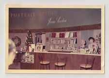Employees Behind the Counter at Jean Sardou Portrait Studio 1960's Vintage Photo