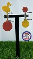 4 oggetti di metallo su 2 DOPPIO ACCIAIO Spinners AIR RIFLE SHOOTING plinking * PK07
