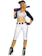 Sexy Star Player Baseball Sport Uniform  Women Costume S/M Leg Avenue 53063