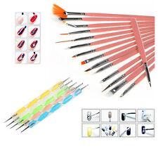 20pcs Nail Art Design Painting Dotting Detailing Polish Brush Pen Tool kit Set