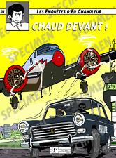 """""""Chaud Devant !"""" dessin (6 ex disponibles) PEUGEOT 404 par JICEHER."""