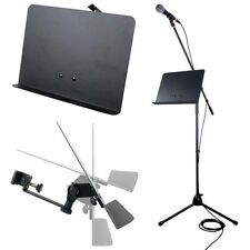 "Universal Clamp On Music Stand Attachment Tray for Mic Stand 13.75"" x 10.25"""