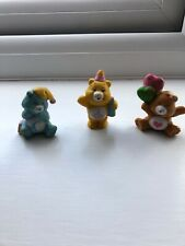 Vintage CARE BEARS tenderheart And birthday Bear figures,character toys 1983
