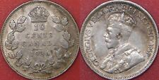 Very Fine 1936 Canada Silver 10 Cents