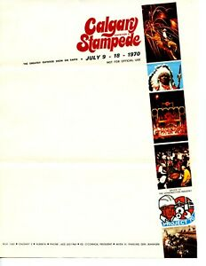 """Calgary Stampede 1970 Exhibit letterhead unused & folded; no """"From Stampede PO"""""""