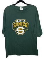 SEATTLE SONICS Ray Allen #34 2000s NBA Basketball Black Majestic T-Shirt XXL