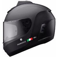4 adesivi CASCO MOTO: NOME PERSONALIZZATO + BANDIERA ITALY + GRUPPO SANGUIGNO RH