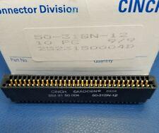 50pc CINCH Standard Card Edge Connectors 50-31SN-12 CARDCON FREE SHIPPING