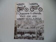 advertising Pubblicità 1976 MOTO MALANCA 125 E 2C SPORT/SCRAMBLER