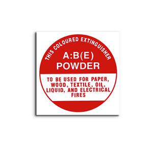 ABE Dry Chemical Powder Identification Disc