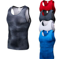 Men's Compression Tank Tops Running Basketball Moisture Wicking Spandex Vests
