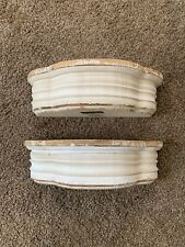 Set Of 2 Floating Distressed Rustic Farmhouse Style Shelves NEW 13.5x5.5x3.75 In