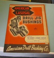 1951 American Lasosal Drill Jig Bushing Company Catalog Los Angeles California