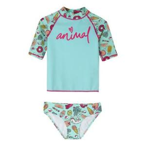 Animal NEW Kids Paddle Rash Vest Suit - Misty Green BNWT