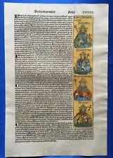 Altkoloriertes Blatt CXXXII, Schedel Weltchronik 1493 Nürnberg HEILIGER NIKOLAUS