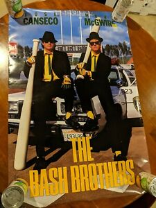 """POSTER - Bash Brothers - Jose Canseco & Mark McGwire - 36"""" x 24"""""""