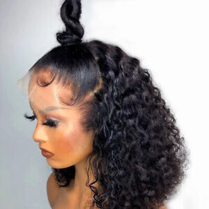 """Pre Plucked Water Wave Lace Front Wig Brazilian Virgin Human Hair Wigs 14"""""""