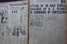 WW2 NEWSPAPER June 18 1943 US Fliers Down 77 Jap Planes Lose Six BNP CF