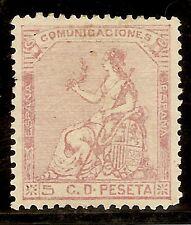 Edifil 132*  5  Céntimos Rosa  1873  Alegoría   ( CORREO GRATUITO )   NL553