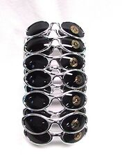 Motorcycle Biker Chrome Terminator Sunglasses Cyclist Wrap lens Cool lot of 12