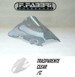 Y009/C FABBRI Cupolino DOUBLE BUBBLE Trasparente per Yamaha YZF R6 2001 2002