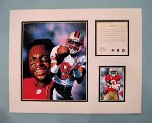 San Francisco 49ers Jerry Rice 1996 Football 11x14 MATTED Kelly Russell Print