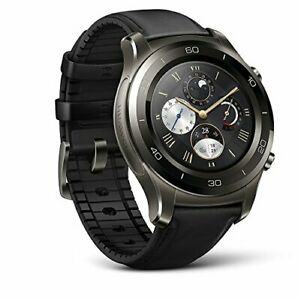 Huawei Watch 2 Classic Smartwatch - Ceramic Bezel- Black Leather StrapUs Warr...
