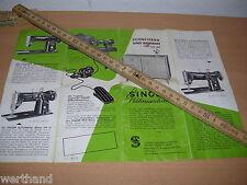 Singer 216 316 G  NÄHMASCHINE altes Prospekt Werbung