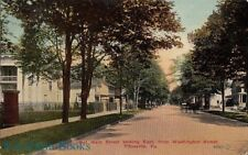 Postcard West Main Street Looking East Washington Street Titusville PA