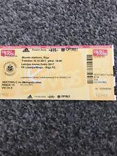 Latvia FA Cup Final 2017 FK Liepaja/Mogo V Riga FC Used Ticket