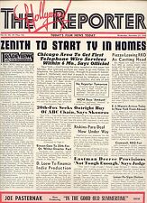 """'48 RARE HOLLYWOOD REPORTER """"ZENITH TO START TV IN HOMES"""" ISSUE"""