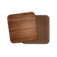 Dark Brown Wood Effect Coaster - Oak Men's Joiner Cool Dad Uncle Gift #15765