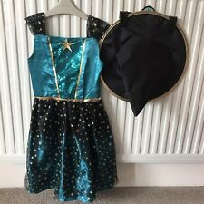 7-8 Yrs Girls Halloween Witches Costume With Hat.