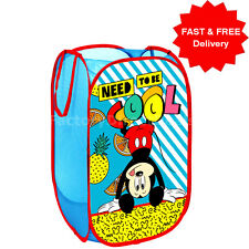 DISNEY Mickey Pop Up Mesh Cesto Cesto per biancheria Borsa Bin giocattolo Tidy Storage Kids