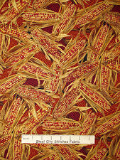 Autumn Fabric - Harvest Corn Fall Gold Accented Timeless Treasures CM2086 - Yard