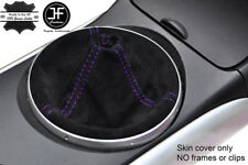 PURPLE STITCHING REAL SUEDE MANUAL GEAR GAITER COVER FITS MAZDA RX8 2003-2012