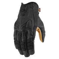 Icon 1000 Axys Custom Cruiser Motorcycle Motorbike Gloves Black | All Sizes