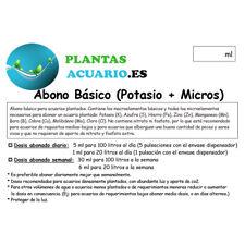 Abono Líquido Básico (Potasio + Micros) 1000ml PACK CON ENVASE DISPENSADOR FÁCIL