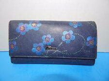 Beautiful ArtsEye Bi-fold Genuine Leather Wallet Organizer Blue Color