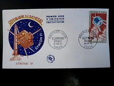 SENEGAL AERIEN 45  PREMIER JOUR FDC      ESPACE SYNCOM II      150F     1964