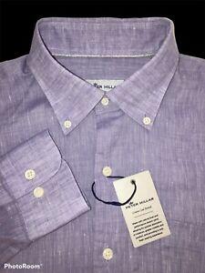 Peter Millar Golf Size Large Linen Blend Crown Cool Stretch Shirt - $148 NWT