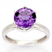 Handmade Solitaire Amethyst Fine Rings