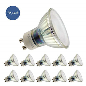 10 X Sanlumia 9W GU10 LED Super Bright Spotlight Bulb 845lm 110 Degree Beam Non