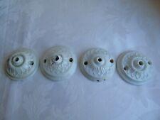 French antique vintage 4 of porcelain ceiling rose
