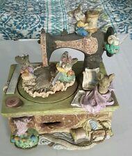 Vintage Music Box Sewing Machine Mice