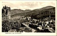 Badenweiler alte Ansichtskarte ~1950/60 Blick von der Burg Baden auf die Stadt