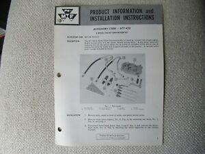 Massey Ferguson MF180 2-spool valve conversion kit install instructions brochure